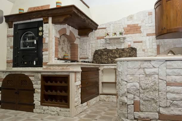 Best cucine muratura rustiche in pietra ideas home - Cucina rustica in pietra ...