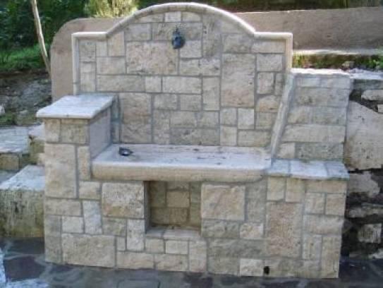 Fontana Giardino Pietra : Vendita fontana in bozze di travertino arredo interno e urbano in