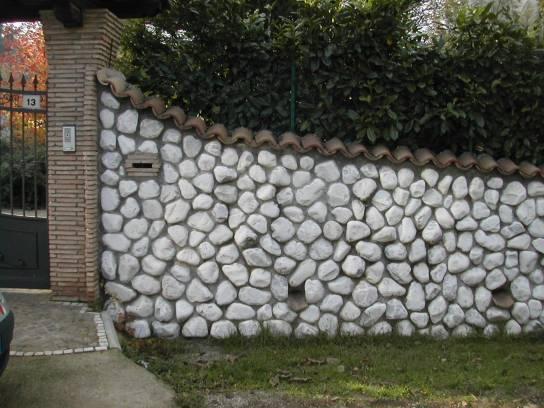 Vendita muro con ciottoli bianco carrara ciottoli e granulati roma guidonia tivoli - Piatto doccia sassi ...