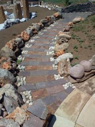 Idee per allestire il vialetto idee per il design della casa for Ciottoli bianchi giardino prezzo